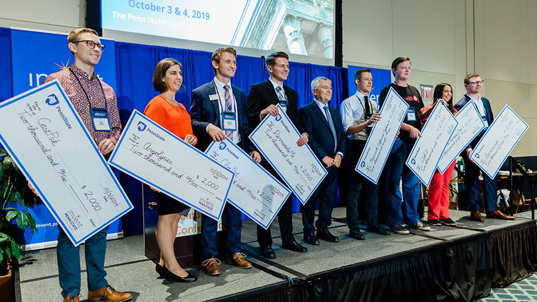 The Student Startup Showcase participants a the 2019 Invent Penn State Venture & IP Conference